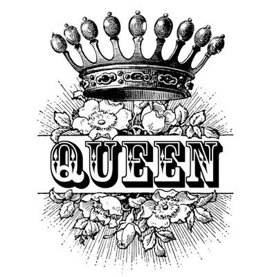 Queen Crown Royalty Roses Victorian Antique Digital Image Download Transfer To…