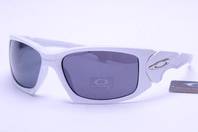 Oakley Active Sunglasses White Frame Gray Lens 0013