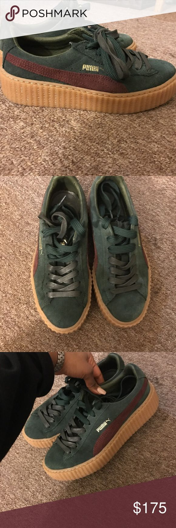 Rihanna puma fenty Rihanna puma fenty creepers. Originally bought for 275. 100% authentic. Price is negotiable. Don't wear them anymore unfortunately, trying to get rid of them asap. #creepers #fenty #puma Puma Shoes Sneakers