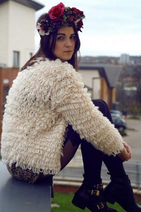 Khaki Long Sleeve Shaggy Slim Cardigan Sweater #SheInside ...