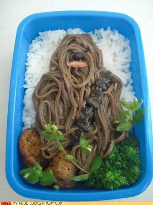 ChewbaccaNoodles: Fun Recipes, Chewbacca Bento, Star Wars, Funny, Lunch, Food Art, Chewaka, Starwars