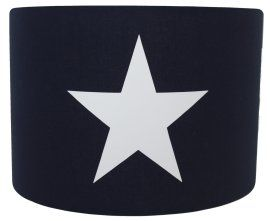 Wandlamp donkerblauw effen met grote witte ster