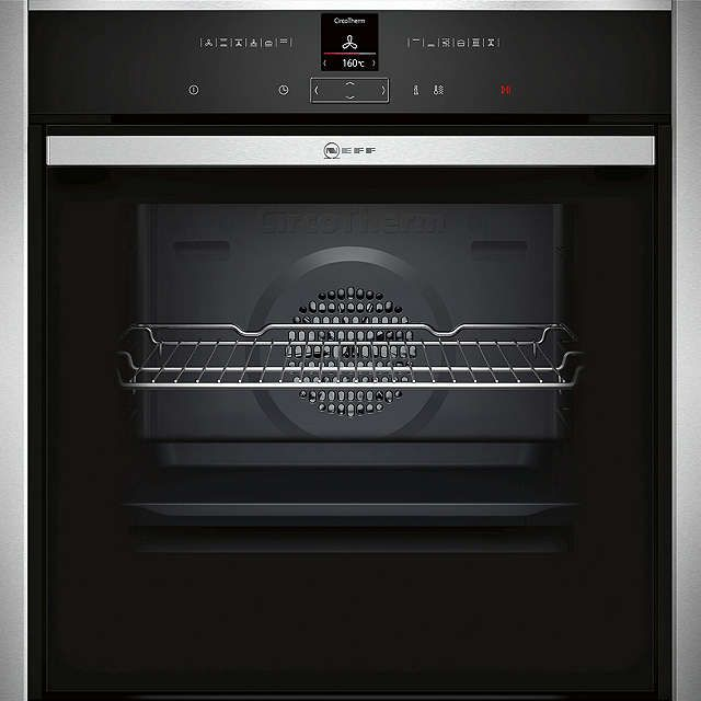 BuyNeff B57CR22N1B Pyrolytic Slide and Hide Single Electric Oven, Stainless Steel Online at johnlewis.com