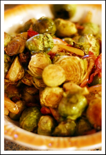 Brussels_sprouts_with_apple_and_bacon | Food | Pinterest