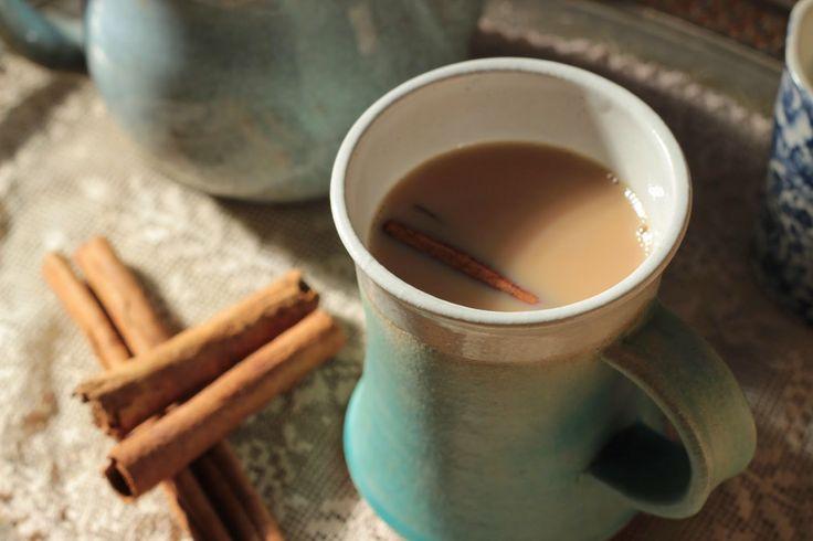 Builders tea with a cinnamon stick