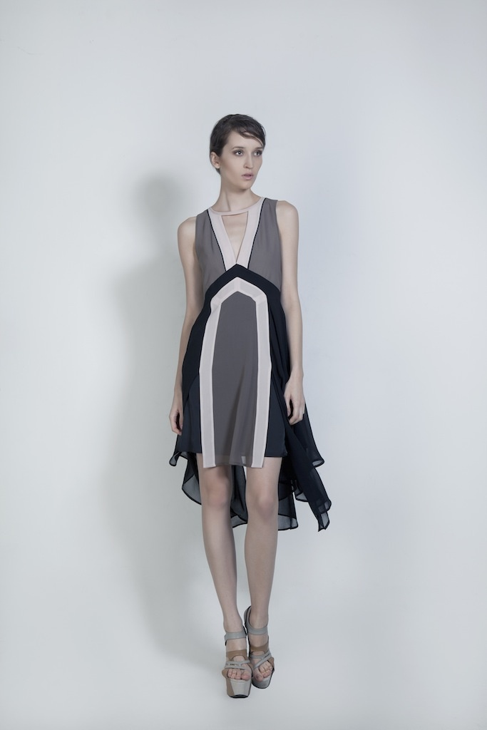 Womenswear. Swinging Chiffon Dress