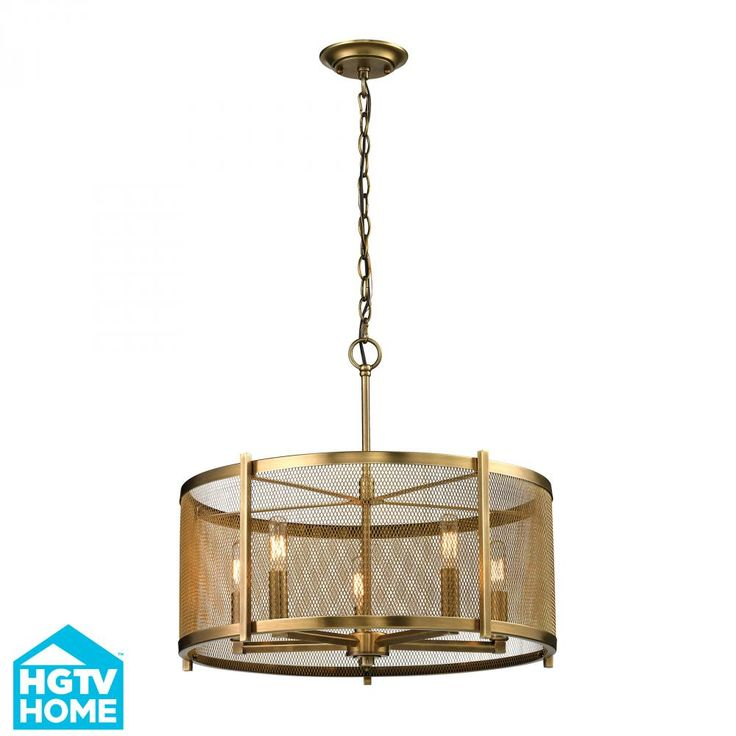Lend Industrial Chic Charm To Your Dining Room Or Foyer With This Eye Catching Pendant Showcasing An Openwork Design And Aged Brass FinishJoss Main