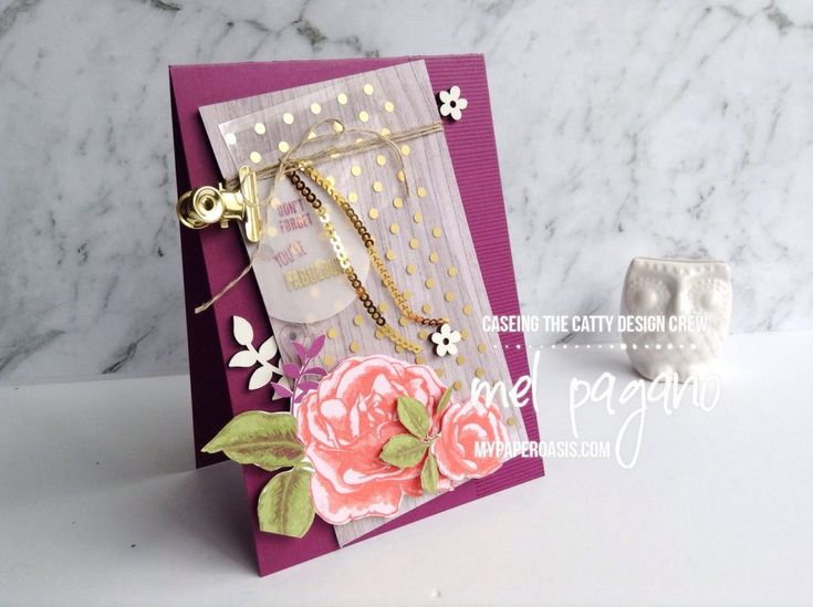 CTC 158 - A page that's your age using Petal Garden by Mel Pagano at My paper Oasis