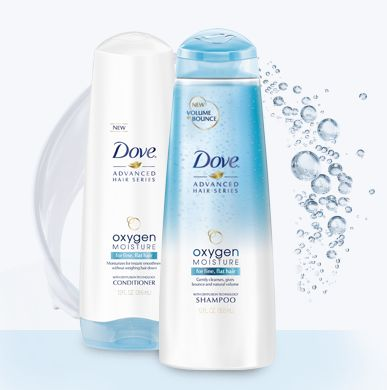 Dove Oxygen Moisture Shampoo & Conditioner Sample - Sweet Deals 4 Moms: