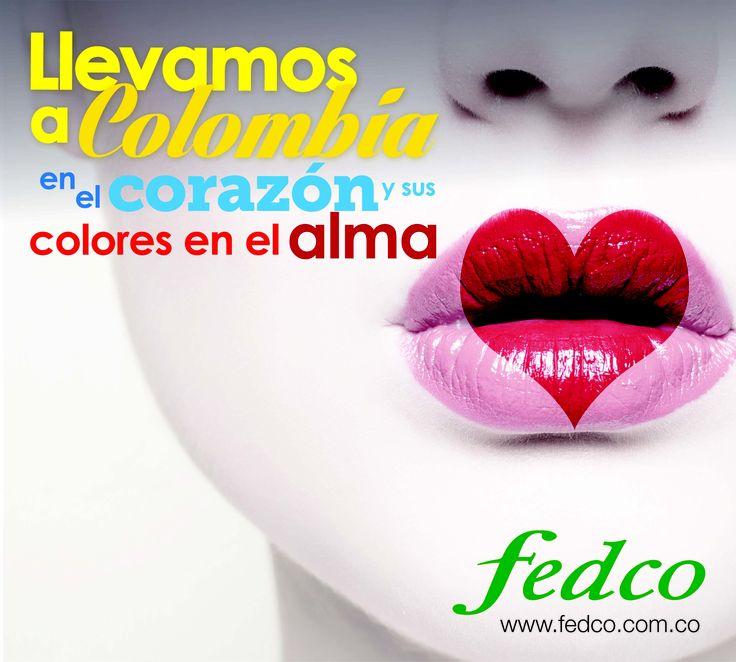 Llevamos a Colombia en el corazón y sus colores en el alma.