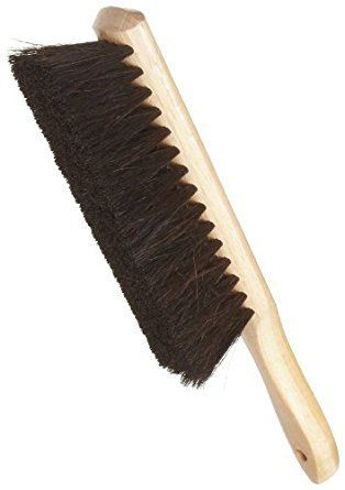 "Weiler 71019 Horsehair Counter Duster with Wood Handle, Wood Block, 2-1/2"" Head Width, 8"" Overall Length, Natural: Duster Brush: Amazon.com: Industrial & Scientific"
