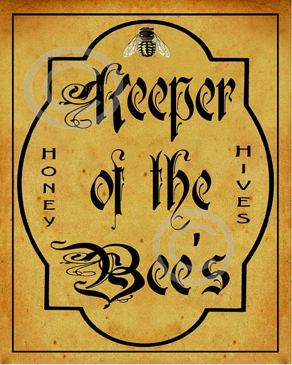 Whimsical Bee Keeper Sign, Keeper of the Bees, Vintage Style, Distressed, Honey…