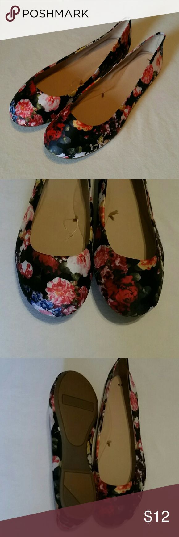 NWOT Floral Ballet Flats Cute new without tags floral ballet flats. Cute and very comfortable. Charlotte Russe Shoes Flats & Loafers
