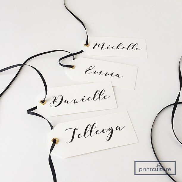 Customized Gift Tags for Bride's Gift Boxes, 320gsm Reno Paper Stock & Die Cut Finish