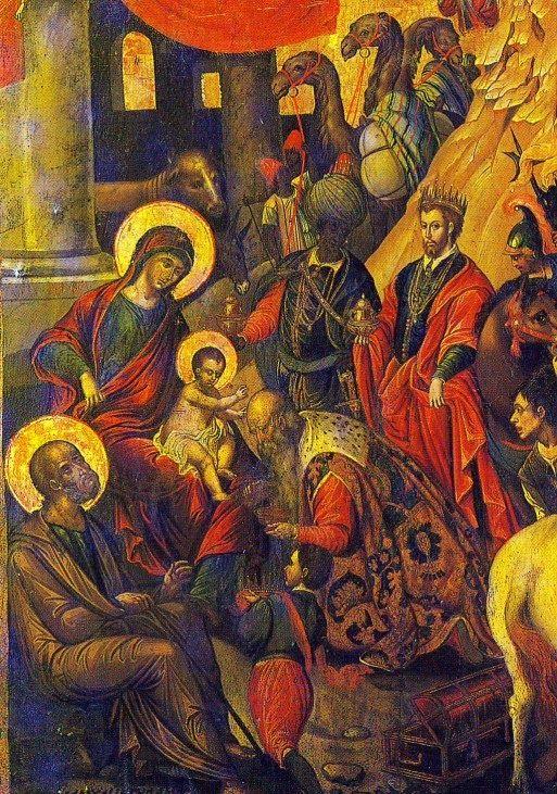 Η Προσκύνηση των Μάγων, 16ος αιώνας, Μιχαήλ Δαμασκηνός  16th century, by M.Damaskinos