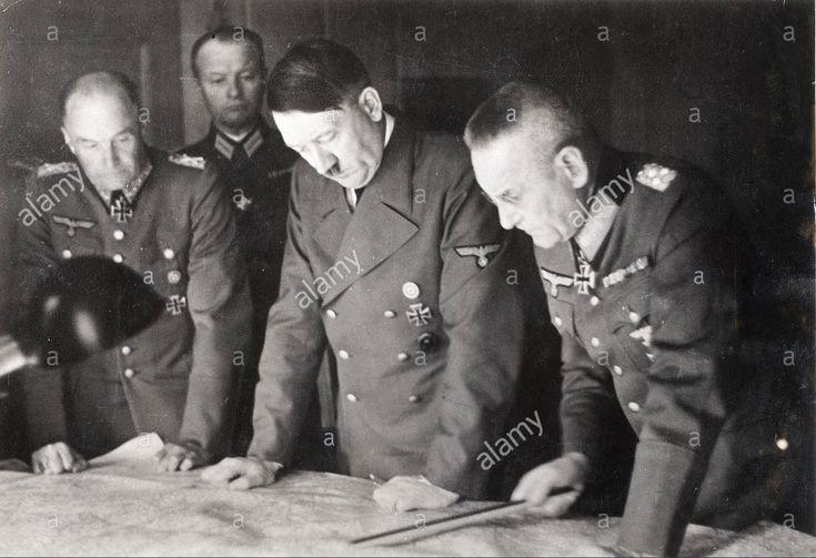 Adolf Hitler, Walther von Brauchitsch, Franz Halder, 1941