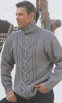 свитер с косой