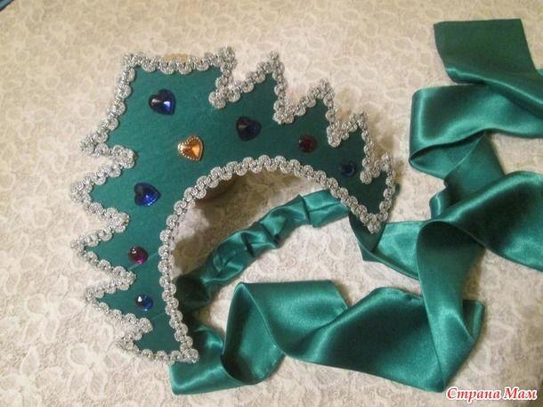 Привет всем! Сегодня я научу вас делать корону-кокошник Елочка на новогодний праздник.
