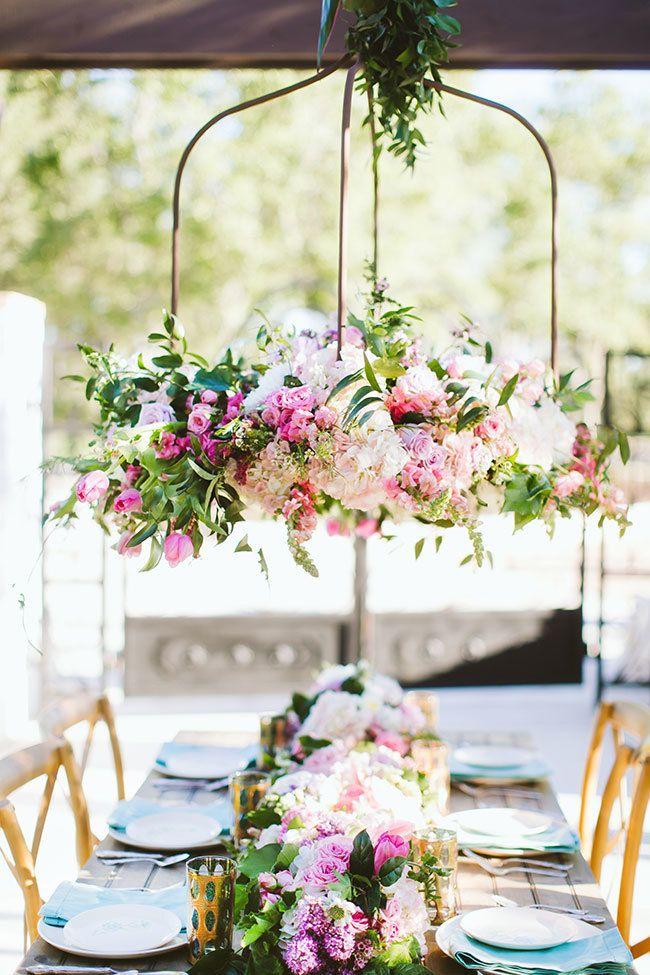 Image result for hanging wedding flowers
