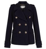 Blue Hampstead Peacoat | Coats | Outlet Coats and Jackets | Hobbs