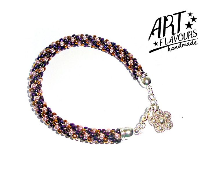Beading - Kumihimo with Beads. Made of Toho Round 8/0