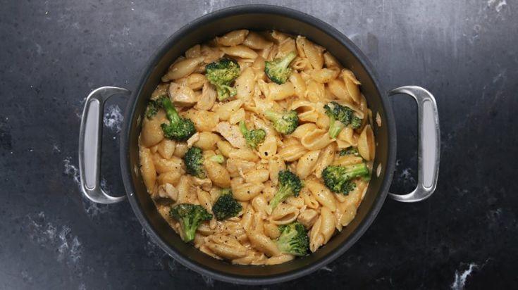 Cestoviny s kuracím mäsom a brokolicou