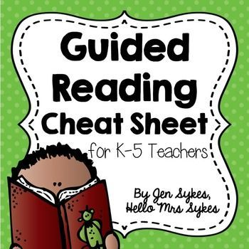 "FREE Guided Reading Cheat-Sheet!!.....Follow for Free ""too-neat-not-to-keep"" teaching tools & other fun"