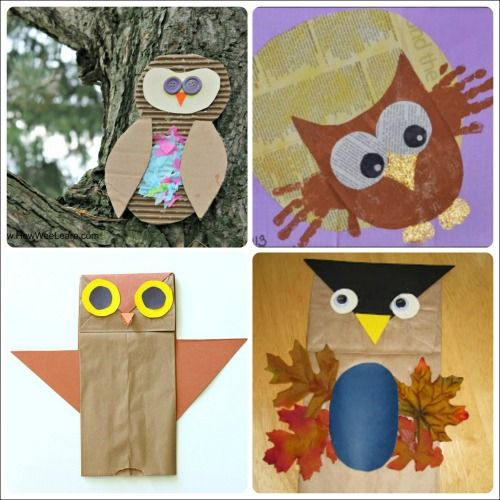 Owl crafts for kids to make this fall