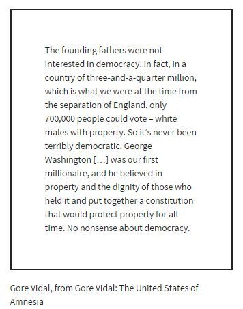 Gore Vidal: The The United States of Amnesia #USHistory #history #democracy #quotes #politics