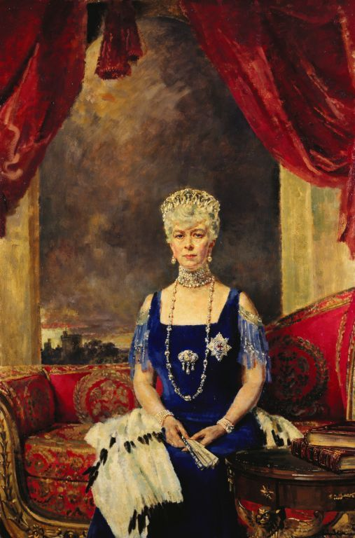 Queen Mary (1867-1953) | in a portrait that is part of the Royal Collection Trust. She was a magpie of a Queen and we have her to thank for the documentation the accompanies the the jewels of the current Queen.