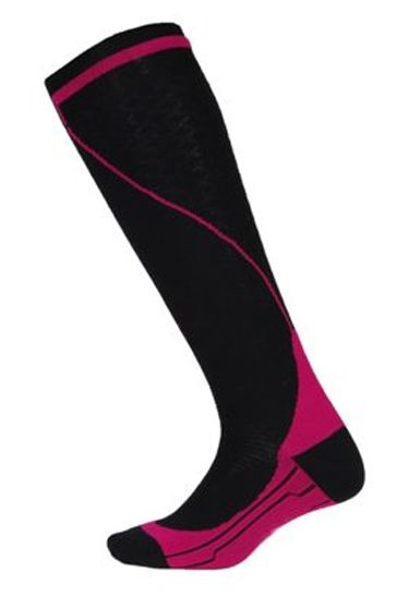 Private Label Manufacturer Black and Dark Pink Fitness Socks