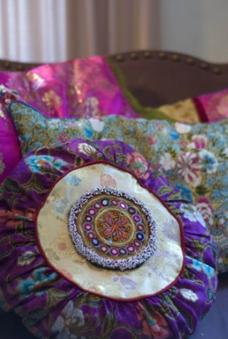 Bohemian/Moroccan Throw pillows - These are fabulous!  I want them all over my house.