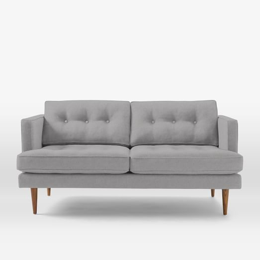 Peggy Mid Century 645 Sofa Heathered Crosshatch