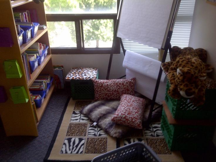 Library set up jungle theme