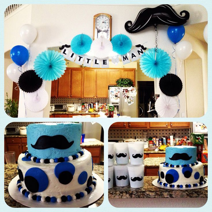 mustache theme baby shower