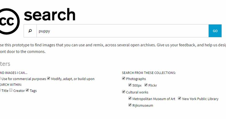 screenshot of CC search site   Last week, through Larry Ferlazzo , I learned about a new Creative Commons image search engine . The search...