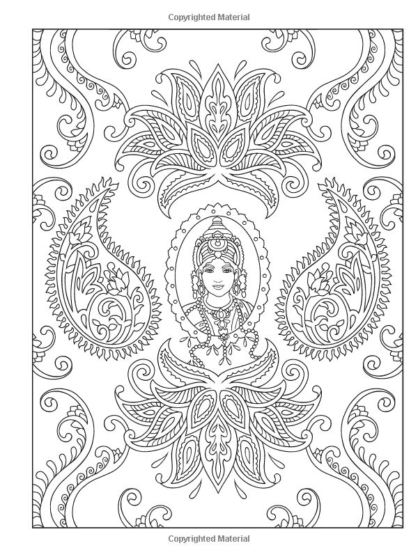 Creative Haven Magnifique Mehndi Designs Coloring Book Books Marty Noble