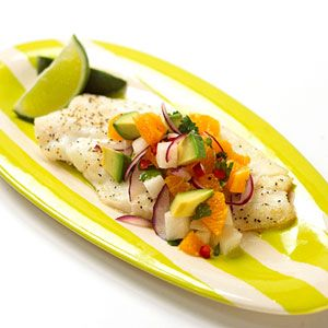 Baked Orange Roughy with Citrus Salsa | Recipe