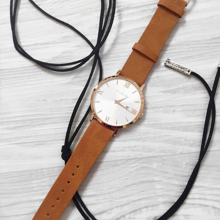 Shop our VEGAN tan leather straps today! Feat the Siena Rose Gold Watch