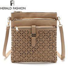Small Bag Women Messenger Bags Soft PU Leather Hollow Out Crossbody Bag For Women Clutches Bolsas Femininas Herald Fashion 2016