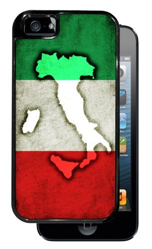Italian Flag with Map of Italy - Black iPhone 5 Dual Protective Durable Case #Italian #Flag #with #Italy #Black #iPhone #Dual #Protective #Durable #Case