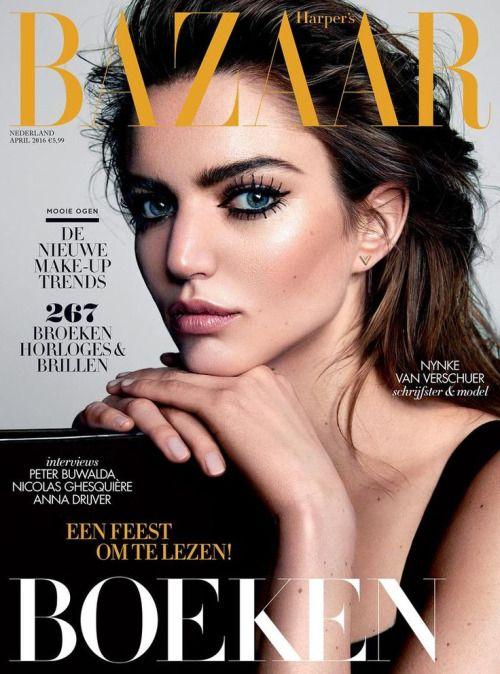 Magazine Cover Eyebrows And Beauty On Fleek Harper S Bazaar Nederland April 2016 Magazine