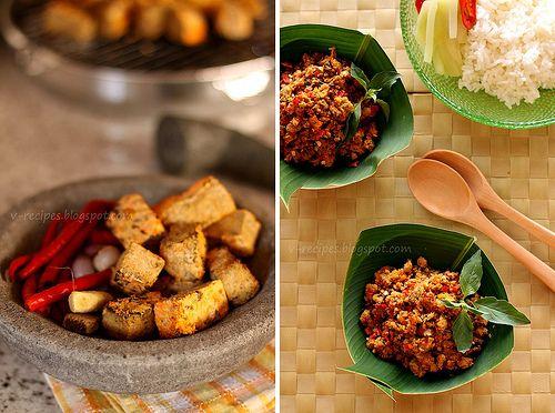Sambal Oncom~ Sambal made with fermented tofu