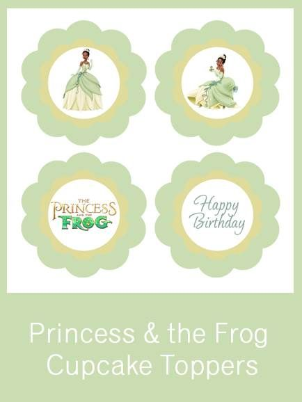 Princess Amp The Frog Cupcake Toppers Free Pdf Download