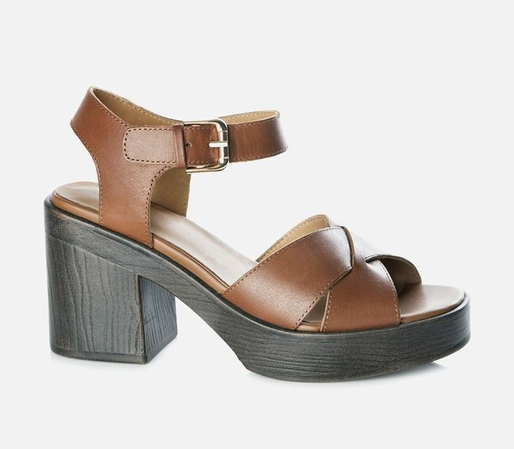 Vagabond - MARVA. Featured   with a cross over front and a buckle on the heel strap; these heeled sandals   are comfy yet stylish.