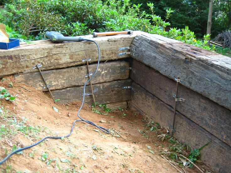 25+ Rr Ties Retaining Wall Landscape Timbers Pictures and