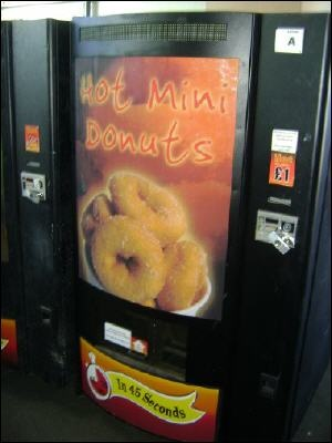 mmmm a donut vending machine