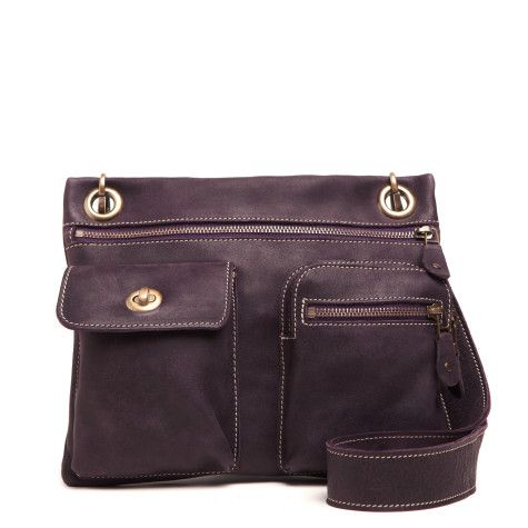 The colour... Wineberry! Beautiful!  Village Bag Tribe Leather | Womens Mid Sized Leather Bags | Roots