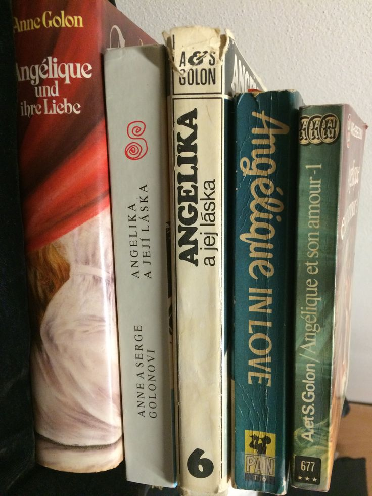 My collection of Angélique books in 5 languages :D