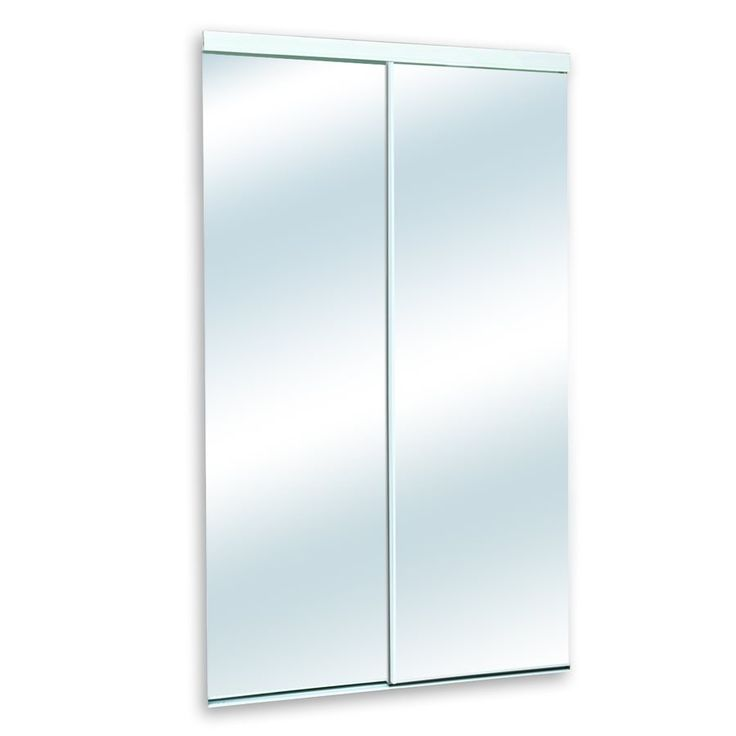 white mirror panel clear glass sliding closet interior door common